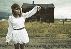 ghosttomost (yyellowbird) Tags: house abandoned girl southdakota ghosttown cari okaton