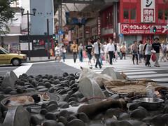 ML (max.b.lewis) Tags: street sleeping dog animals japan cat homeless osaka tied tethered