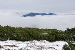 雲に浮かぶ東大雪