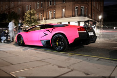 Lamborghini Murcielago SV (KuleliDesign) Tags: street pink england london cars car super harrods exotic arab owned lamborghini supercar spotting photgraphy exotics supercars murcielago sloane ckk veloce spotter lp670 kulelidesign