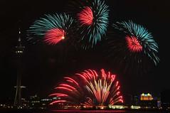 Italian Fireworks (MelindaChan ^..^) Tags: color dark evening italian colorful display fireworks contest mel international melinda macau     chanmelmel   macauinternationalfireworksdisplaycontest