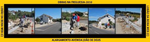 OBRAS DE ALARGAMENTO NA AV. JOÃO DE DEUS