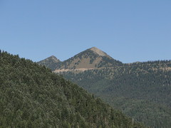 Dege Peak from pullout on highway 123.