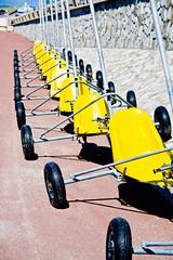 rank (Ormeston) Tags: summer sun mer holiday france beach yellow canon seaside promenade plage francais letouquet parisplage sandyacht 450d canon450dukusers