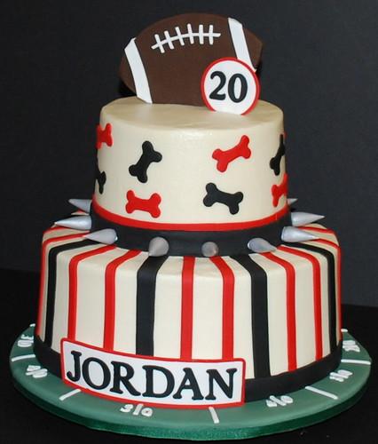 Georgia Bulldogs Theme Birthday Cake