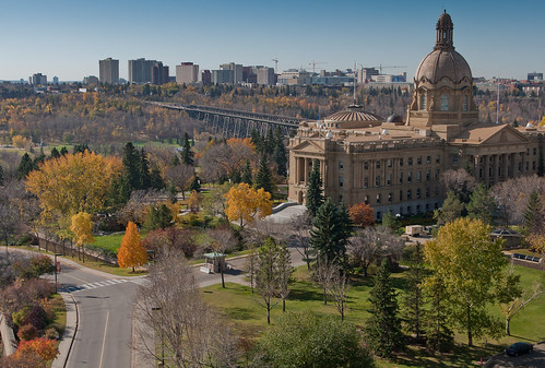 Edmonton Legislature Grounds During Fall
