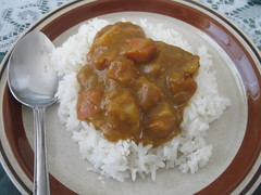 Instant Curry over Rice
