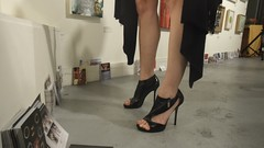High Heel Patron @ Open Studios (Lynn Friedman) Tags: sanfrancisco art fashion shoes opening launch somarts patron 2010 buyer artopening openstudios artspan lynnfriedman friedmanlynn