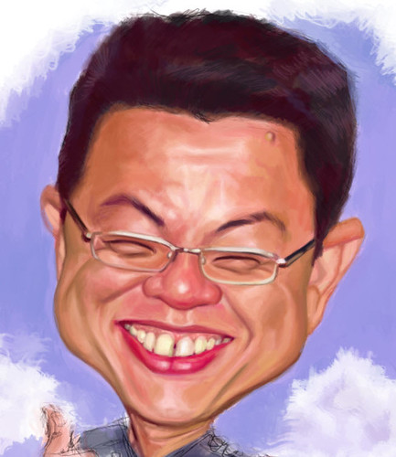 digital caricature for SIngapore Navy - 2 small