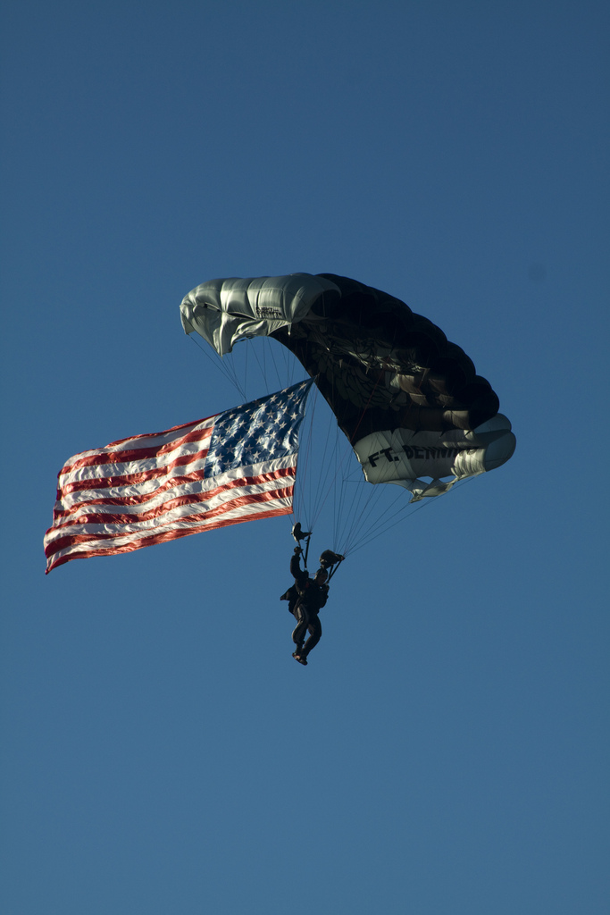 Army Silver Wing Parachute Demonstration Team