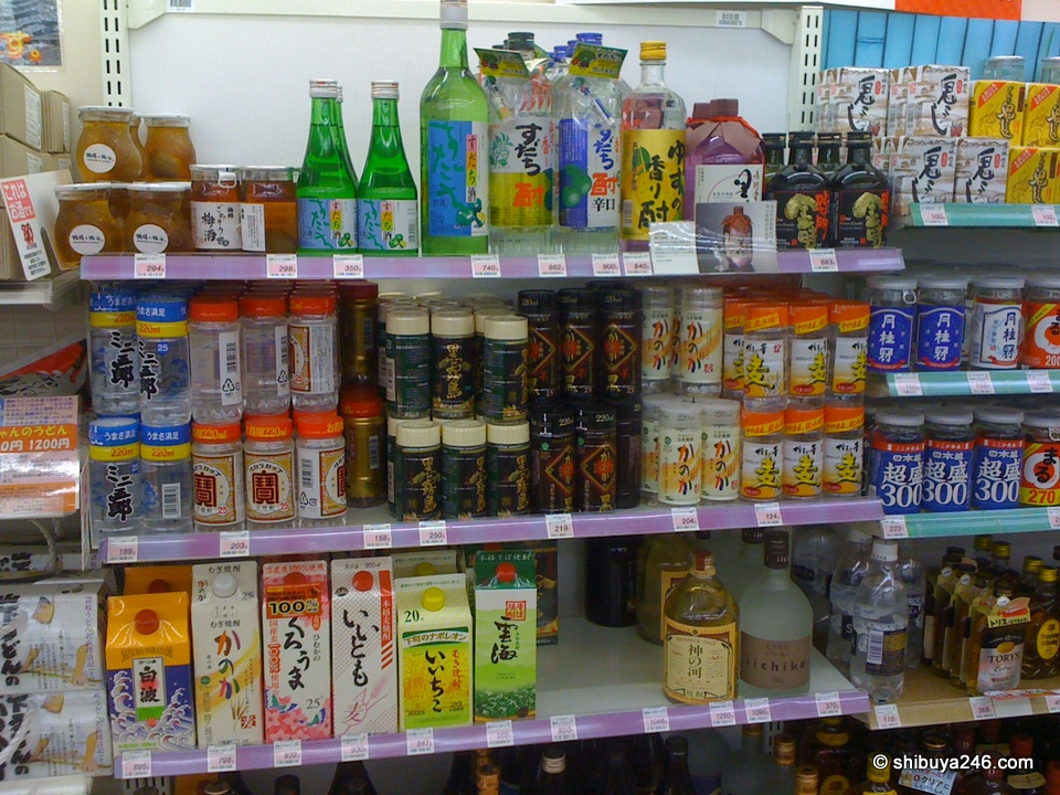 Plenty of choice in the Sake corner