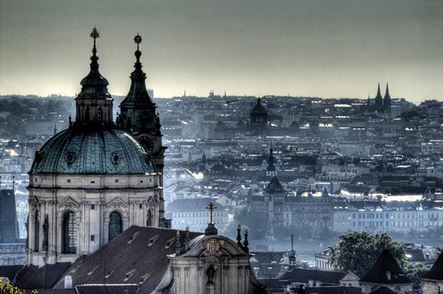 View of Prague from the castle. Vista de Praga desde el castillo