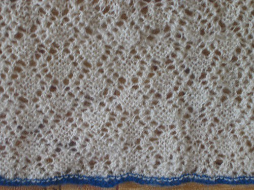 Trellios and rose lace knitting 2 Sized