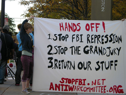 Second protest of FBI raids 08