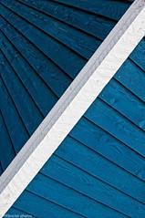 Blue & white lines (PRS Images) Tags: wood blue white lines shed diagonal colorefex nikond90