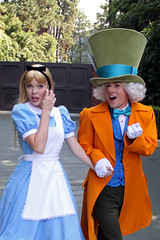Alice and the Mad Hatter arrive