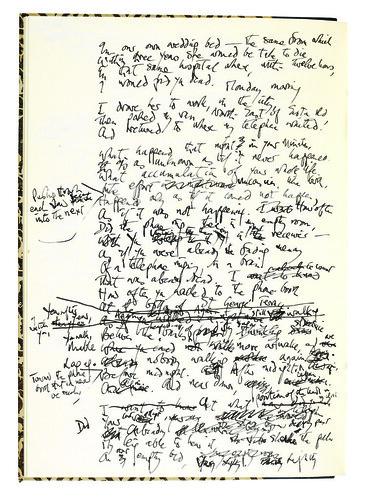 Last Letter manuscript