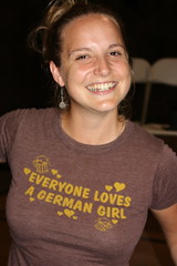 Everyone Loves a German Girl (jayinvienna) Tags: dulles tshirt oktoberfest germangirl everyonelovesagermangirl germanbeernight germanbeernight2010