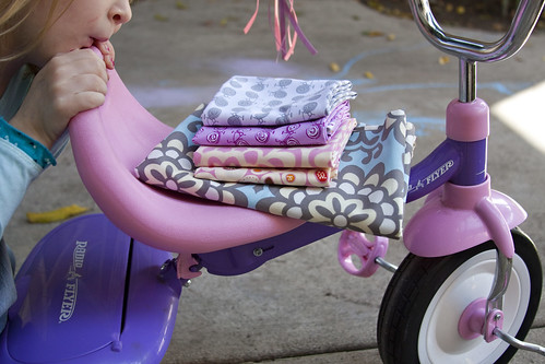 Fabric on a bike