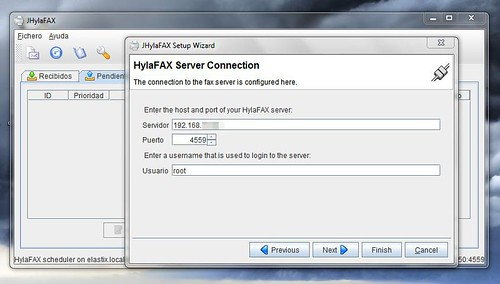 Hylafax Server Connection
