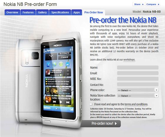 N8 Pre Order