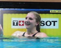 Well done Becky (janet7r) Tags: swimming freestyle final commonwealthgames mansfield womens400m rebeccaadlington