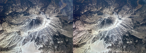Mount Myoko, stereo parallel view