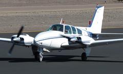 Beech 95-C55 Baron N7925M (ChrisK48) Tags: airplane aircraft 1966 baron dvt phoenixaz kdvt phoenixdeervalleyairport beech55 beech95c55 n7925m skycatspumacorp