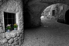 (Marco Tassi) Tags: bw garda borgo biancoenero medioevale medioeval canon1740 hintofcolor canaleditenno canon40d