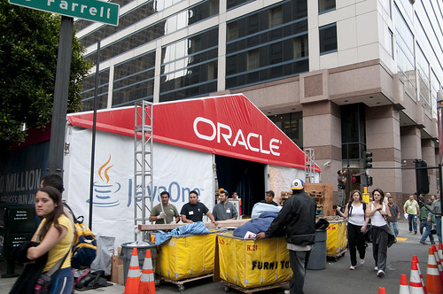 Masson Street Tents, Oracle OpenWorld & JavaOne + Develop 2010
