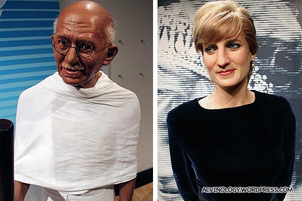 Ghandi and Princess Diana