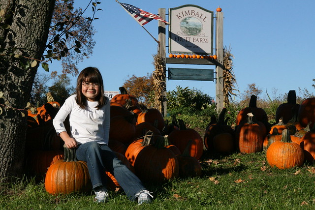 Kimball's Sign and pumpkins