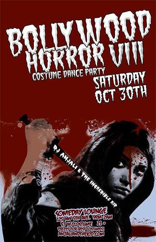 October 30: Portland Halloween Bollywood Horror VIII @ Someday Lounge | Costume Contest