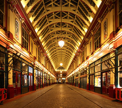 London Leadenhall Market (david.bank (www.david-bank.com)) Tags: city uk england london architecture night canon stitch market perspective shift tilt leadenhall 17mm