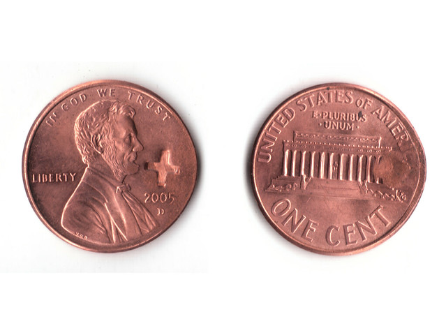 single penny front and back