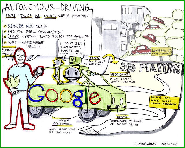 Google Cars Drive Themselves, in Traffic