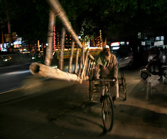 Dehra Dun - India (An diabhal glas) Tags: 2005 light india blur bicycle night digital canon dark rebel xt lights iso200 darkness shot nightshot tricycle muslim twin bamboo explore ladder tyre dehradun dun dehra aphex f40 17mm september1 16sec uttarakhand 0167sec