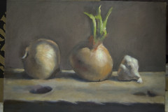 Onions: Value Study, Step 4: Finished Painting