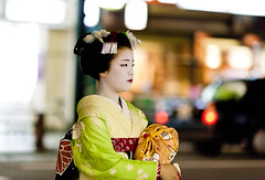 Geiko (Milton CJ) Tags: portrait colors japan japanese kyoto nightshot bokeh candid maiko geiko geisha   gion 135mm geige ayano  kyto   gionkobu nihonkoku nipponkoku imperialcapitalofjapan