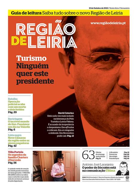 Capa Regiao de Leiria edição 3839 de 15 Outubro 2010