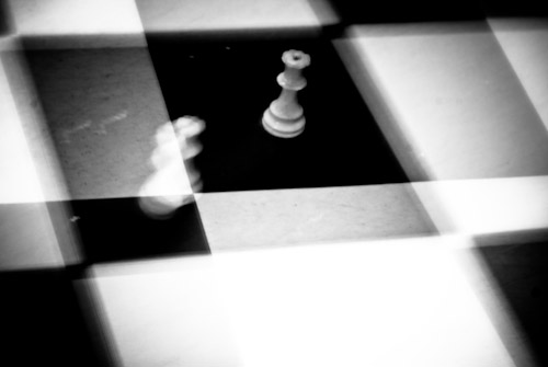 chess on large squares long exposure with movement