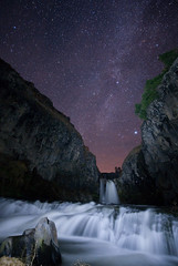 Gusher (Ben Canales) Tags: water oregon centraloregon river stars waterfall stream desert dream falls galaxy starry cosmos milkyway whiteriverfalls Astrometrydotnet:status=failed bencanales Astrometrydotnet:id=alpha20101014775474