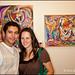 Lamine Hamdad and Karen Dawes adoring Irina Koren's art