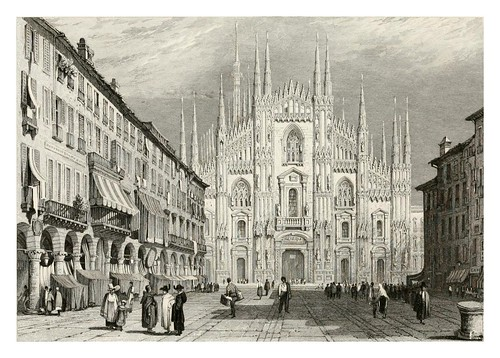 005-Catedral de Milan-The tourist in Switzerland and Italy-1830-Samuel Prout