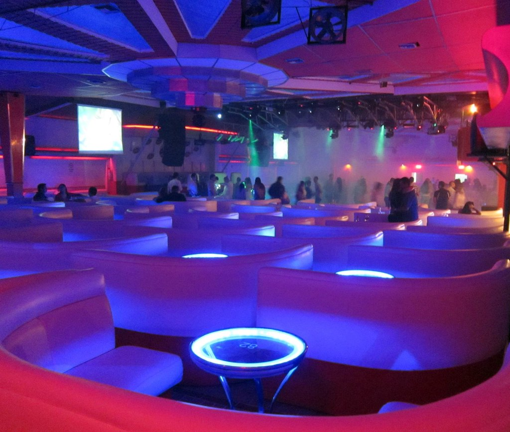 Inside one of Menga's giant discotecs