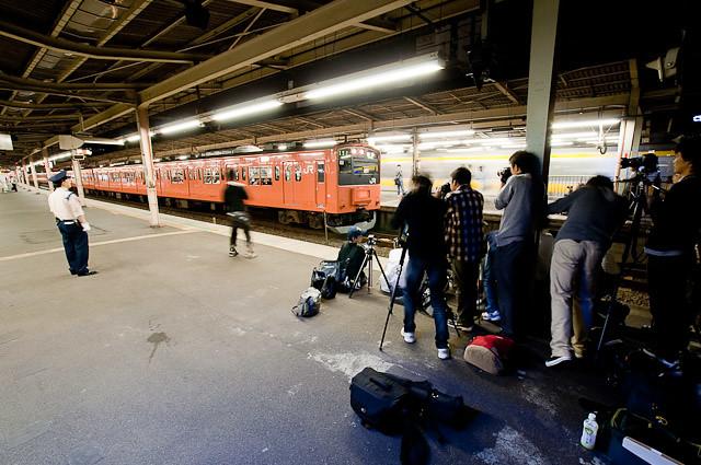 中央線201系H7編成 最終営業運用列車1915T 中野発車 - 2010年10月14日