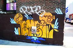 os gemeos (Into Space!) Tags: street city nyc newyorkcity urban streetart ny newyork art brooklyn truck canon graffiti photo manhattan longisland ewok illegal take williamsburg gemeos cope2 malvo intospace intospaces