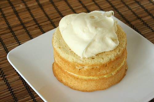 Fluffy Coconut Cake with Lime Filling