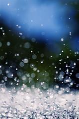 [フリー画像] テクスチャ・背景, 水・氷, 雫・水滴, ブルー, 201010190700