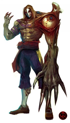 Street Fighter Characters Zombified Concept Art